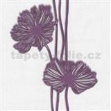 Tapety Lacantara 3 - velké květy fialové - SLEVA