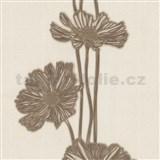 Vliesové tapety na zeď Lacantara 3 - velké květy hnědé