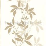 Tapety Lacantara 3 - stonky listů světle hnědé se třpytem - SLEVA