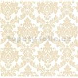 Luxusní vliesové tapety na zeď LACANTARA zámecký vzor zlatý na bílém podkladu