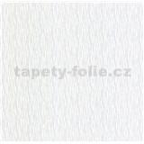 Luxusní vliesové tapety na zeď LACANTARA vlnovky stříbrné na bílém podkladu - POSLEDNÍ KUS