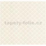Luxusní vliesové tapety na zeď LACANTARA ornamenty stříbrné na bílém podkladu