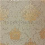 Vliesové tapety na zeď La Veneziana 3 zámecký vzor damašek hnědý