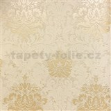 Vliesové tapety na zeď La Veneziana 3 zámecký vzor damašek středně hnědý