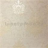 Vliesové tapety na zeď La Veneziana 3 zámecký vzor damašek krémový