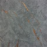 Tapety na zeď La Veneziana 3 omítkovina modrá s bronzovým detailem