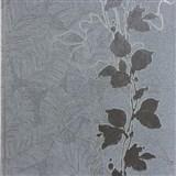 Tapety na zeď La Veneziana stonky listů na hnědém podkladu
