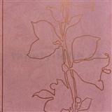 Tapety na zeď La Veneziana 3 listy bronzové na vínovém podkladu