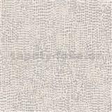 Vliesové tapety na zeď La Veneziana 4 tečky černo-stříbrné na krémovém podkladu