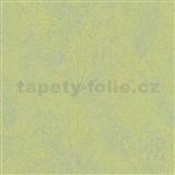 Vliesové tapety na zeď La Veneziana 4 pavučina stříbrná na limetkovém podkladu