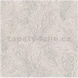 Vliesové tapety na zeď La Veneziana 4 pavučina stříbrná na béžovém podkladu