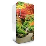 Samolepící tapety na lednici podzimní zahrada rozměr 120 cm x 65 cm