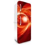Samolepící tapety na lednici abstrakt oranžový rozměr 180 cm x 65 cm