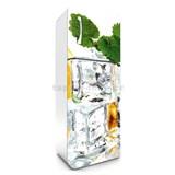 Samolepící tapety na lednici kostky ledu s mátou rozměr 180 cm x 65 cm