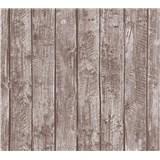 Dětské vliesové tapety na zeď Little Stars dřevěné desky hnědé