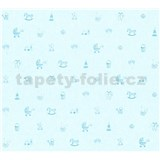 Dětské vliesové tapety na zeď Little Stars dětské hračky modré