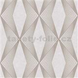 Vliesové tapety na zeď LIVIO geometrický vzor hnědý