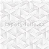 Vliesové tapety na zeď LIVIO jehlany stříbrno-bílé se třpytem