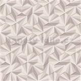 Vliesové tapety na zeď LIVIO jehlany hnědo-stříbrné