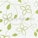 Tapety na zeď Lofty - květy stylizované zelené