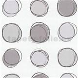 Tapety na ze� Lofty - kruhy hn�do-fialov� - SLEVA