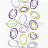 Tapety na ze� Lofty - elipsy zeleno-fialov� - SLEVA