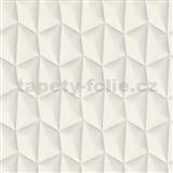 Vliesové tapety na zeď Harmony Mac Stopa 3D vzor světle šedý