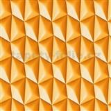 Vliesové tapety na zeď Harmony Mac Stopa 3D vzor oranžový