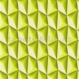 Vliesové tapety na zeď Harmony Mac Stopa 3D vzor zelený