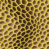 Vliesové tapety na zeď Harmony Mac Stopa 3D plástve hnědo-oranžové