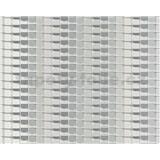 Vliesové tapety na zeď Harmony Mac Stopa 3D abstrakt světle šedý