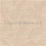 Luxusní vliesové tapety na zeď Madison florální vzor hnědý s metalickými odlesky