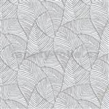 Vliesové tapety na zeď IMPOL Romano listy šedé