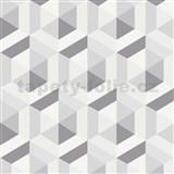 Vliesové tapety na zeď IMPOL Marbella 3D hexagon šedý