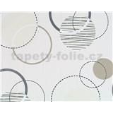 Vliesové tapety na zeď Suprofil - Rings - hnědo-stříbrné