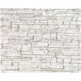 Tapety vliesové Suprofil - kamenný obklad - hnědý odstín