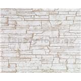Tapety vliesové Suprofil - kamenný obklad - sv.hnědý odstín