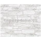 Tapety vliesové Suprofil - kamenná zeď - šedý odstín - SLEVA