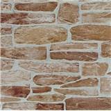Tapety vliesové Suprofil - kamenná zeď - cihlový odstín