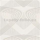 Vliesové tapety na zeď At Home - geometrický vzor krémovo-béžový