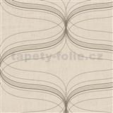 Vliesové tapety na zeď La Veneziana - stříbrný ornament s metalickým efektem