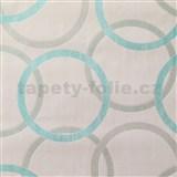 Vliesové tapety na zeď Summer Special - kruhy modré