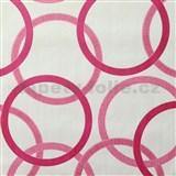 Vliesové tapety na zeď Summer Special - kruhy růžové