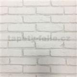 Vliesové tapety na zeď cihla šedá