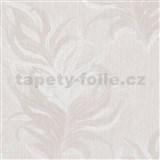 Vliesové tapety IMPOL Mata Hari peříčka bílo-béžové se stříbrnými detaily na krémovém podkladu