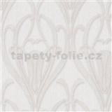 Vliesové tapety IMPOL Mata Hari Art-Deco bílo-stříbrné