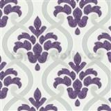 Vliesové tapety na zeď Memphis ornament fialový