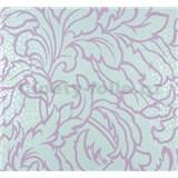 Vliesové tapety na zeď Messina listy fialové