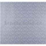 Vliesové tapety na zeď Messina kašmírový vzor malý modro-stříbrný - POSLEDNÍ KUS