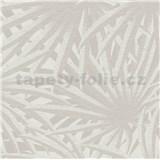 Vliesové tapety na zeď IMPOL Metropolitan Stories palmové listy světle šedé na krémovém podkladu